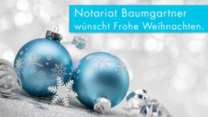 Baumgartner - Weihnachtssujet-Frohe Weihnacht
